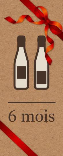 Abonnement vin à offir - 6 mois
