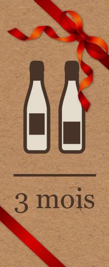 Abonnement vin à offrir - 3 mois